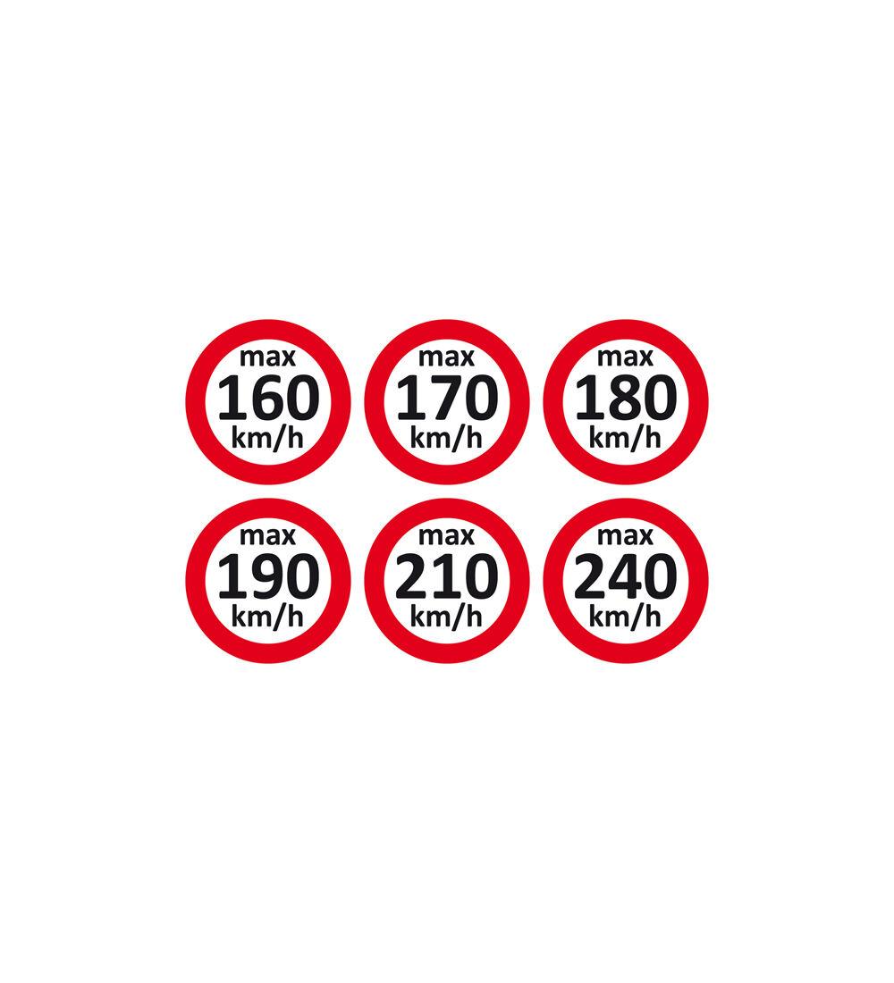 Geschwindigkeitsaufkleber Set 160 240 Kmh 600 Etiketten Für